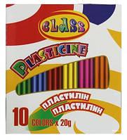 Пластилiн 10 кольорів 200гр. Class арт. 7623 ш.к.8591662762303
