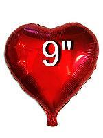 Сердце фольгированное красное   22 см