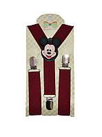 Подтяжки детские с Mickey Mouse бордовые