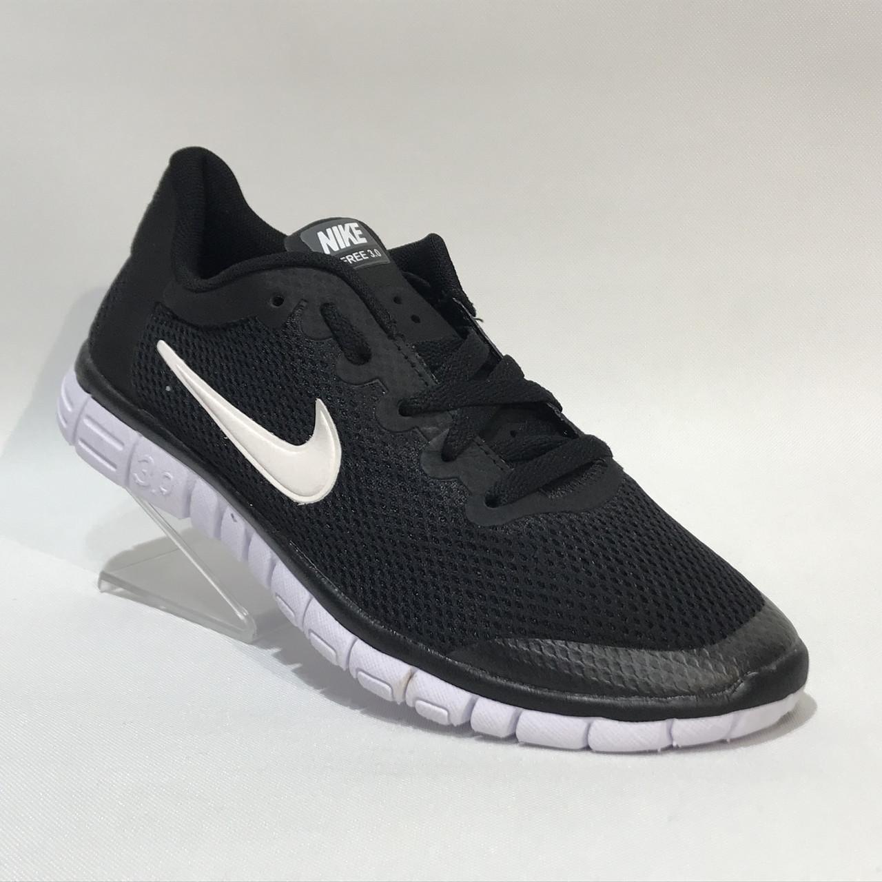 3eedc1d628b Кроссовки мужские Nike Free Run 3.0 сетка черные (найк фри ран ...