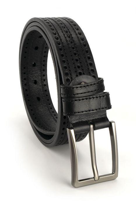 Мужской кожаный ремень 110 см