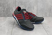 Кроссовки CrosSAV 27 (Adidas) (весна/осень, мужские, натуральная кожа, синий-красный)