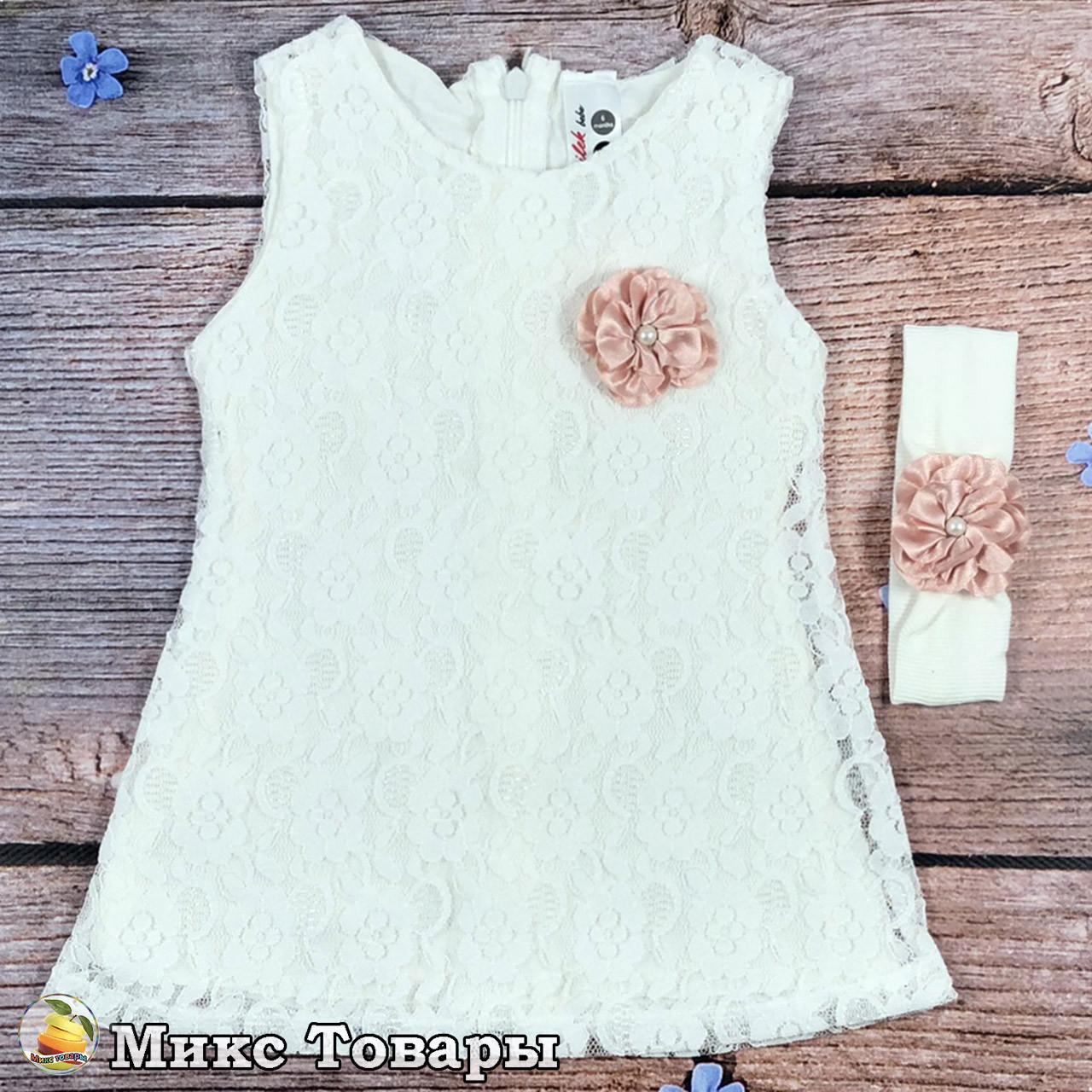 Платье и повязка для маленькой девочки Размеры: 6 и 9 месяцев (8289-1)
