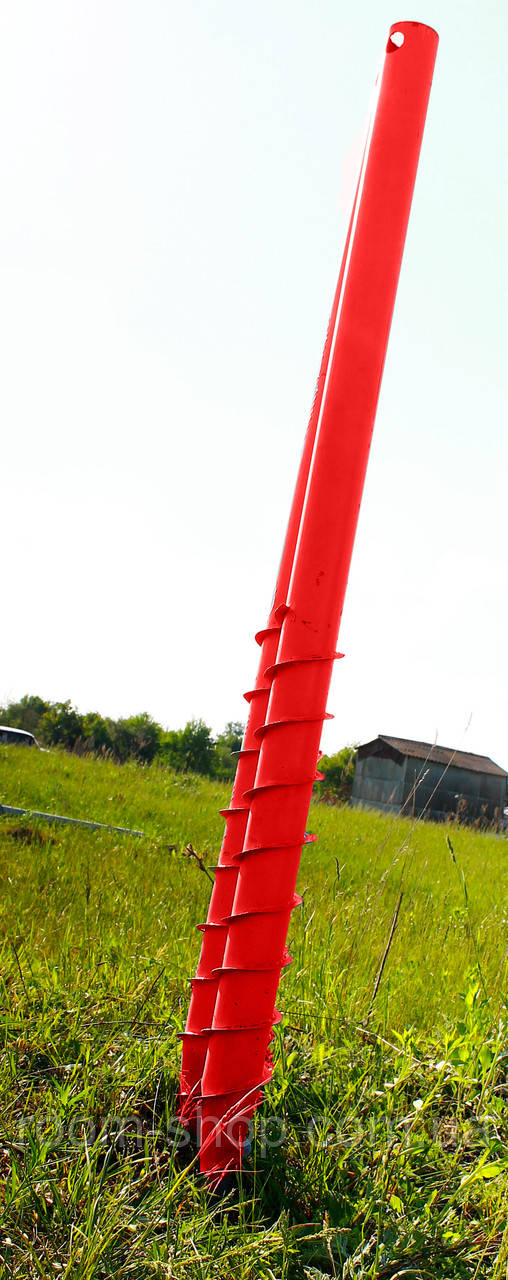 Паля гвинтова многолопастная діаметром 89 мм довжиною 1 метр