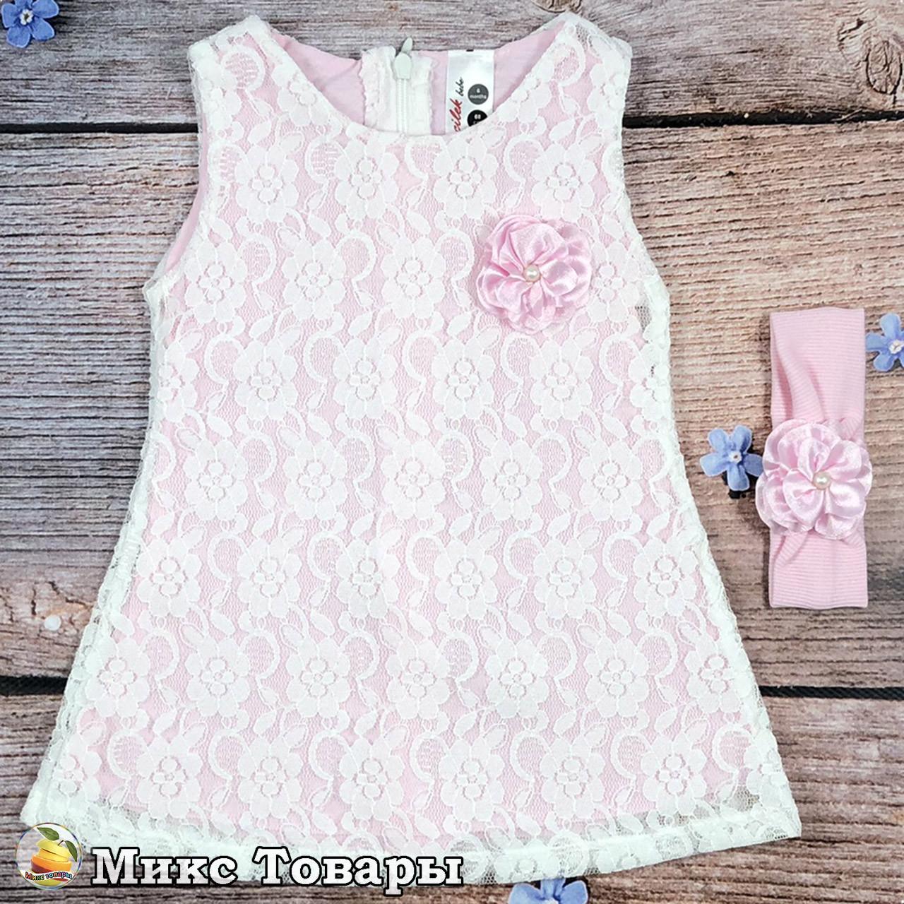 Платье для маленькой девочки Размеры: 6 и 9 месяцев (8289-2)