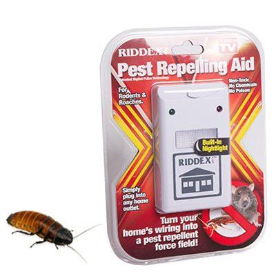 Отпугиватель тараканов и грызунов Riddex - защита дома от грызунов