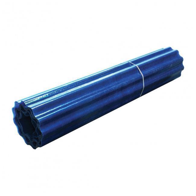 Рулонный пластиковый шифер Элипласт 1,5м гофрированный голубой