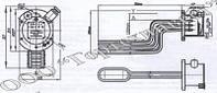ТЭН взрывозащищенный БЭВ-2-10-Z-220, БЭВ-2-2-Z-220, БЭВ-2-22,5-J-220, БЭВ-2-5-Z-220