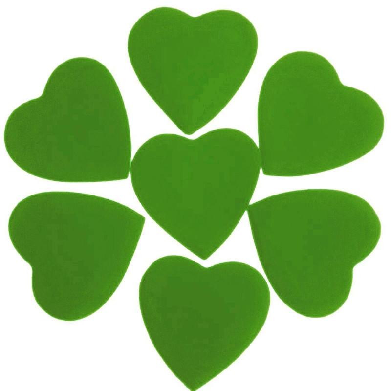 Конфетти Сердца, Зелёные, 500 гр