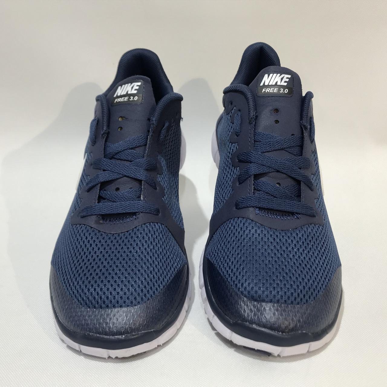 9fc1b3a5 Кроссовки мужские Nike Free Run 3.0 сетка синие (найк фри ран), ...