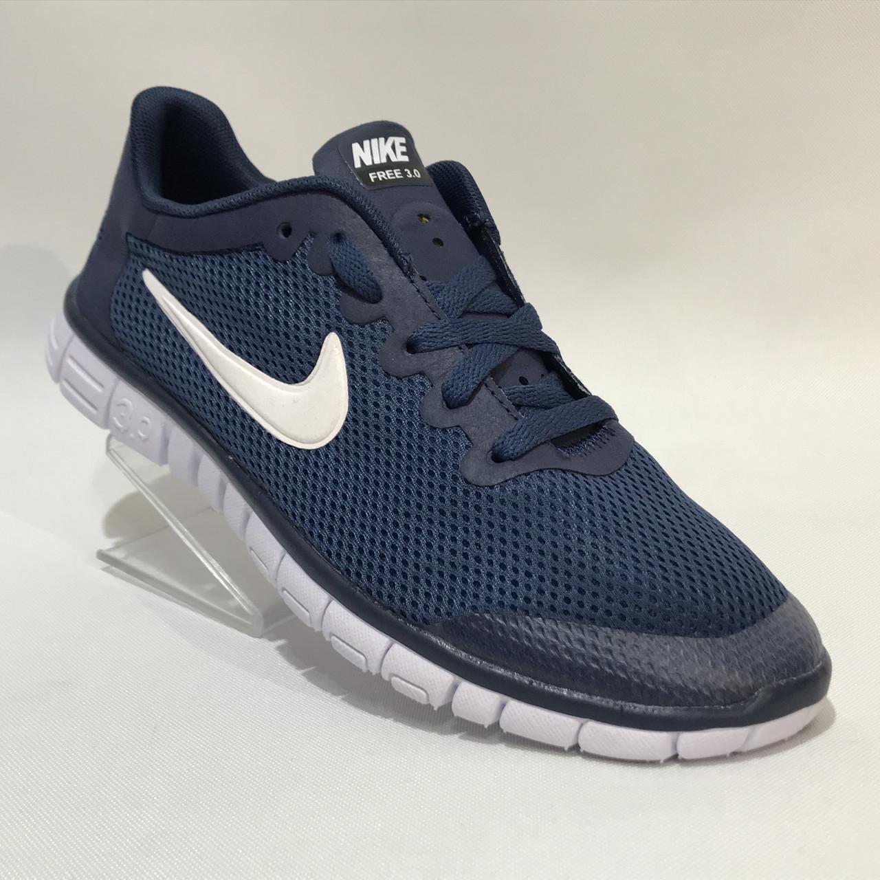 5d0d6d46 Кроссовки мужские Nike Free Run 3.0 сетка синие (найк фри ран) - Мужская  спортивная