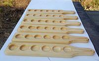 Деревянная Дуб прямоугольная доска подставка для подачи напитков на 6 рюмок