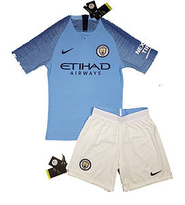 Игровая Футбольная форма (оригинал) Манчестер Сити домашняя сезон 18-19