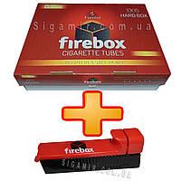 Сигаретные гильзы FireBox 1000 штук + фирменная машинка для набивки гильз, сигарет, фото 1