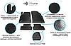 Резиновые коврики в салон TESLA Model 3 17- (special design 2017)-  Stingray (Передние)