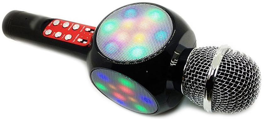 WSTER WS-1816 беспроводной караоке микрофон со светомузыкой. Детский микрофон