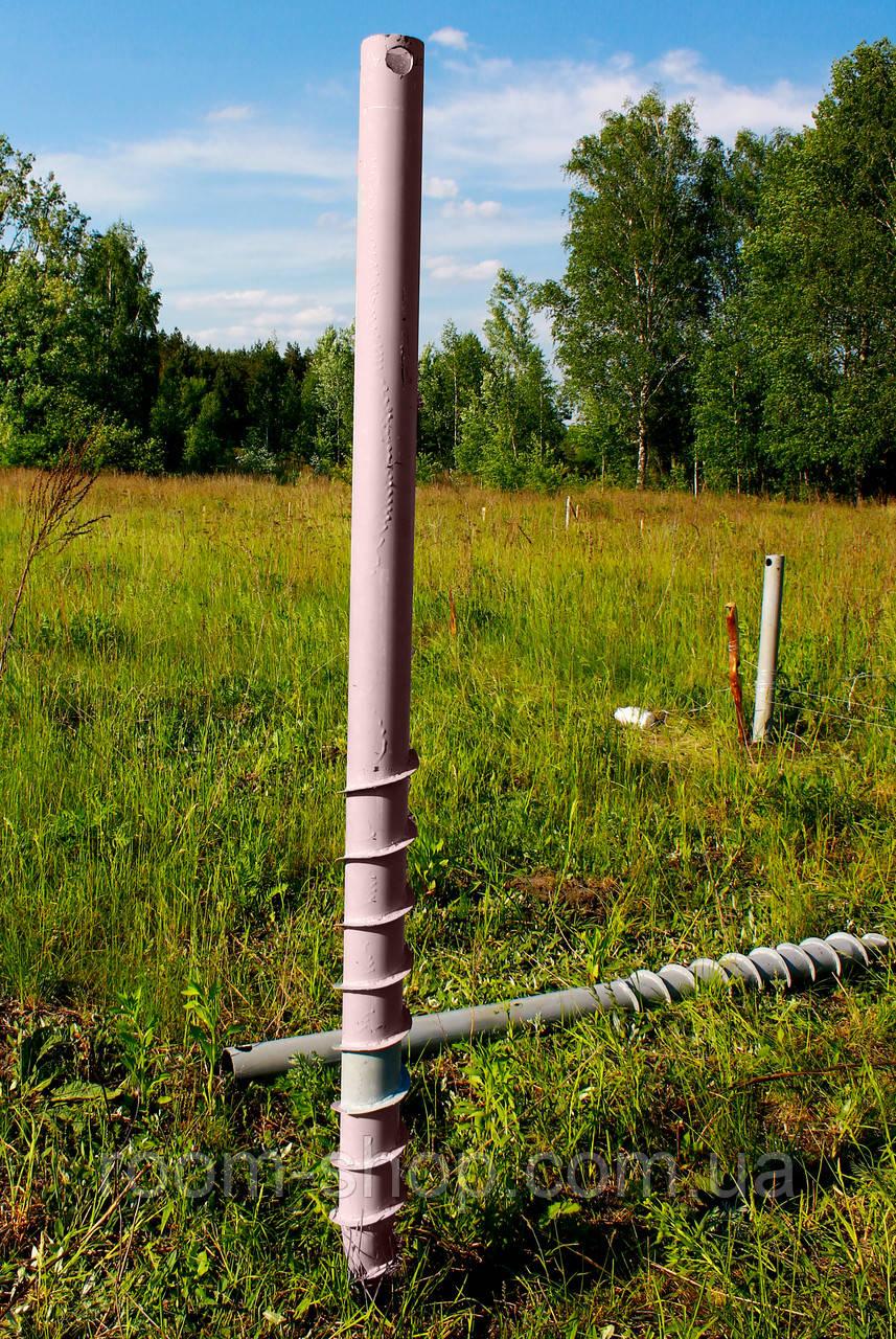 Многовитковая винтовая свая (геошуруп) диаметром 89 мм длиною 4.5 метра