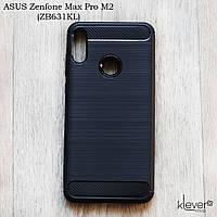 "Противоударный TPU чехол накладка для Asus Zenfone Max Pro M2 (ZB631KL) (black ""Carbon"")"