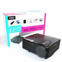 Проектор W662 H80, Мини проектор для дома, Портативный домашний проектор, FullHD проектор, Переносной проектор