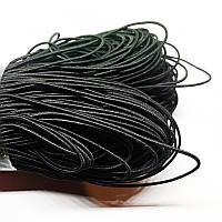 Резинка круглая 1мм, черный (100м)