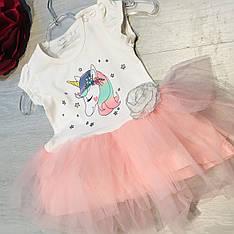 Нарядное платье для девочки 74-92