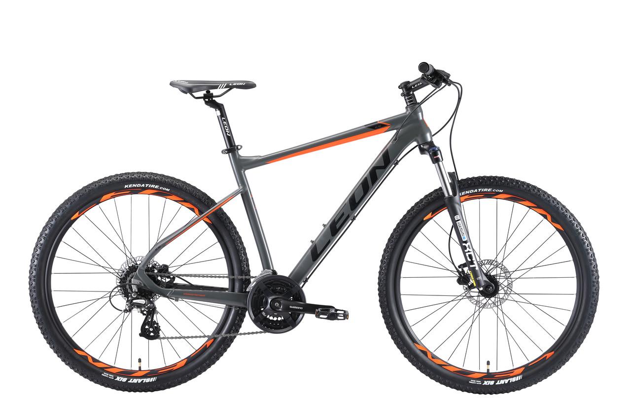 """Велосипед горный 27.5"""" Leon XC 80 HDD 2019 (рама 18"""", серо-оранжевый)"""