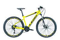 "Велосипед горный 27.5"" Leon XC 70 HDD 2019 (рама 18"", желтый)"