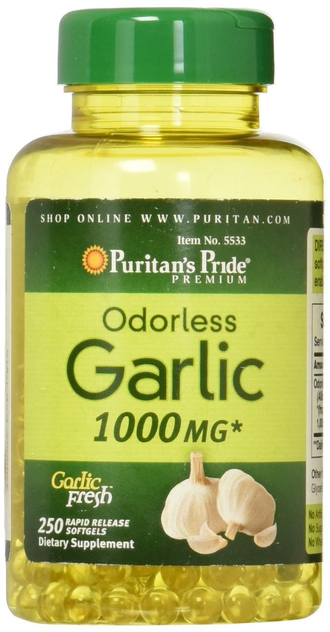 Вітаміни Puritan's Pride Odorless Garlic 1000 mg 100 softgels