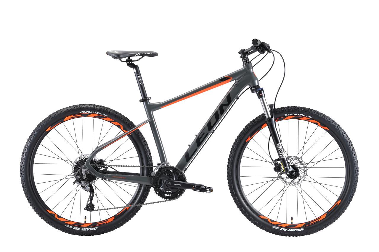 """Велосипед горный 27.5"""" Leon XC 70 HDD 2019 (рама 20"""", серо-оранжевый)"""