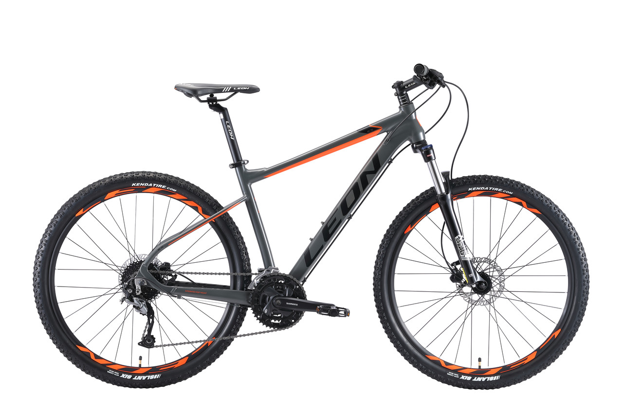 """Велосипед горный 27.5"""" Leon XC 70 HDD 2019 (серо-оранжевый (м))"""