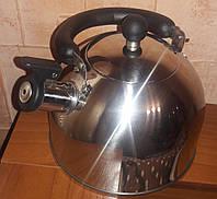 Чайник из нержавеющей стали со свистком RB-626 (3 л)