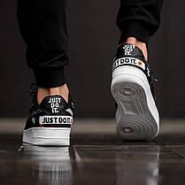 "Кроссовки Nike Air Force 1 Low Just Do It ""Black/White"" (Черные/Белые), фото 3"