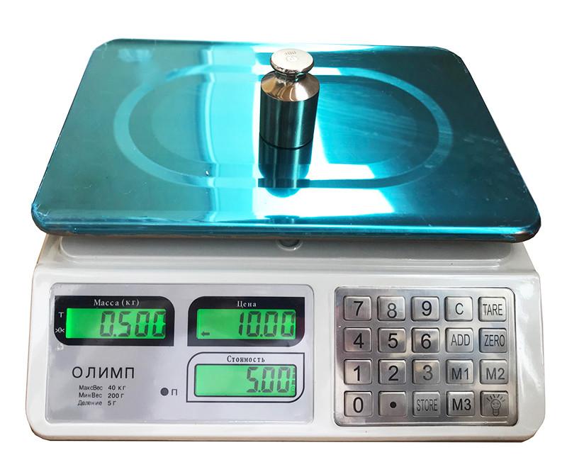 Торговые весы Олимп A10 (40 кг)