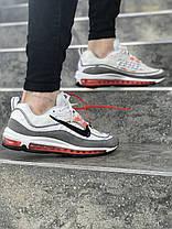 "Кроссовки Nike Air Max 98 Off-White ""White/Grey"" (Белые/Серые), фото 3"