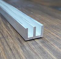 Ш-образная направляющая из алюминия 19х10х2 без покрытия, фото 1