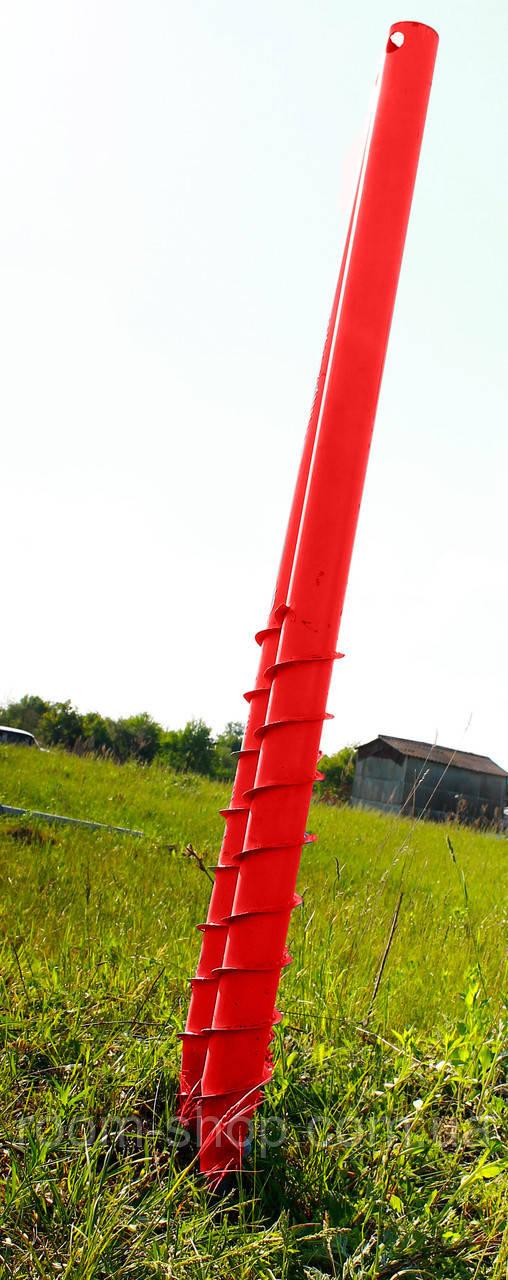 Свая винтовая многолопастная диаметром 108 мм длиною 1 метр