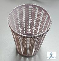 Подставка, контейнер для кистей пилочек карандашей стакан разные цвета корзинка