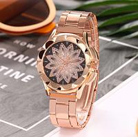 Наручные женские часы цвет розовое золото код 451