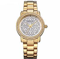 Роскошные женские часы золотистого цвета код 465