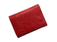 Гаманець жіночий зі шкіри крокодила Ekzotic Leather Червоний (cw106), фото 1