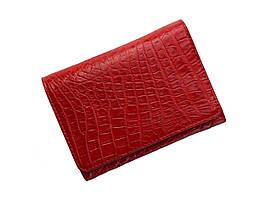 Гаманець жіночий зі шкіри крокодила Ekzotic Leather Червоний (cw106)