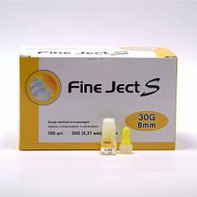 Иглы для шприц-ручек универсальные Fine Ject (Файн Джект) 8 мм 100шт