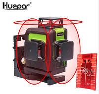 Лазерный уровень Huepar 3D Red HP-903CR с красными лучами, фото 1