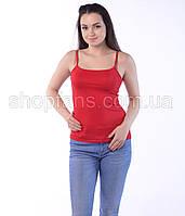 Женская майка тонкая бретелька из вискозы, фото 1