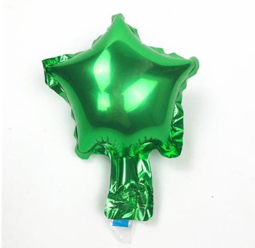 Шар фольгированный звезда ЗЕЛЕНАЯ, 4 дюйма (12 см)