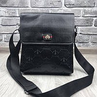 9b507727d371 Модная новинка женская сумка-планшетка Gucci черная кожа PU через плечо  сумочка качество Гуччи люкс