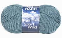 Пряжа Полушерстяная Nako Sport Wool 185 для Ручного Вязания