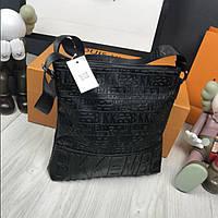 7d4465bd8710 Новая модель мужская сумка-планшет Bikkembergs черная через плечо  прессованная кожа унисекс Биккемберг реплика