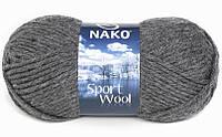 Пряжа Полушерстяная Nako Sport Wool 193 для Ручного Вязания
