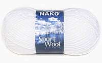 Пряжа Полушерстяная Nako Sport Wool 208 для Ручного Вязания